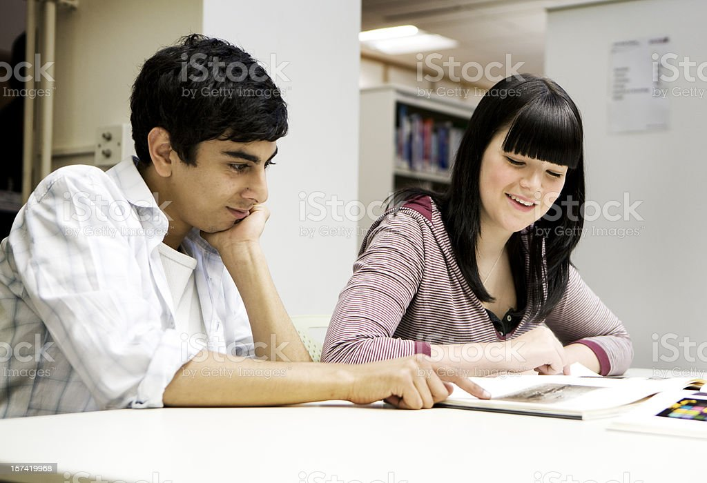 further education: library time royalty-free stock photo