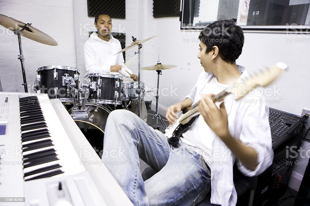 further education: music students stock photo