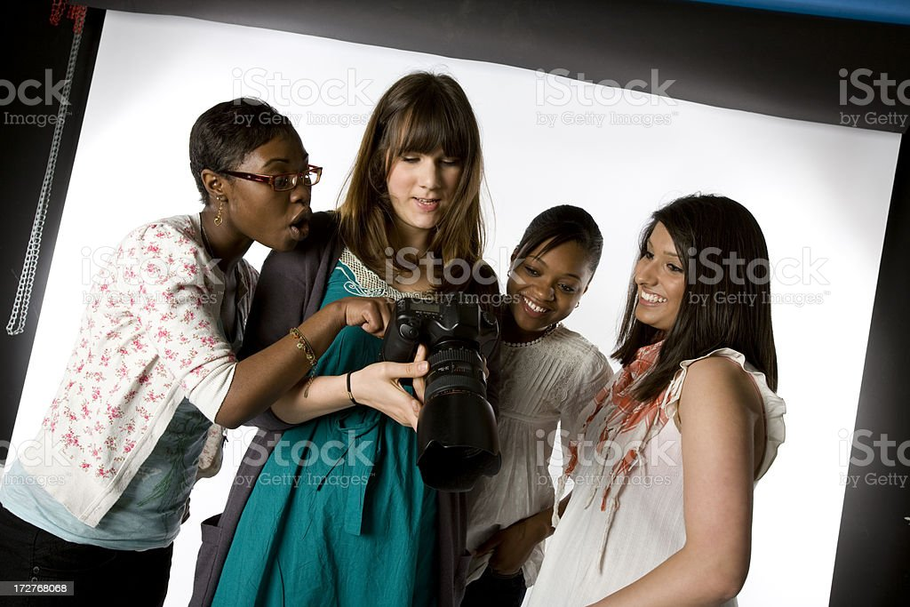 further education: photography students royalty-free stock photo