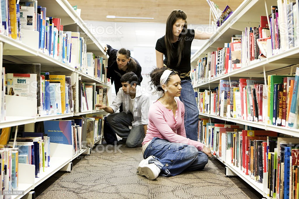 further education: reference library royalty-free stock photo