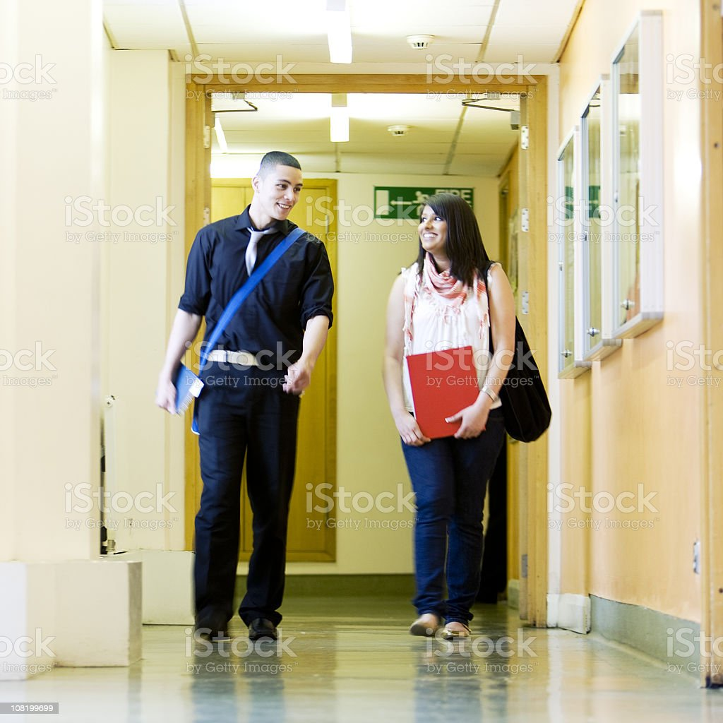 further education: school friends stock photo