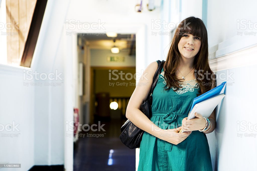 further education: school girl royalty-free stock photo