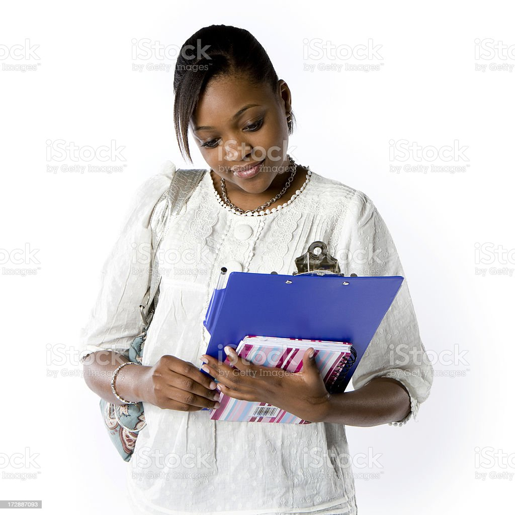 further education: smiling student royalty-free stock photo