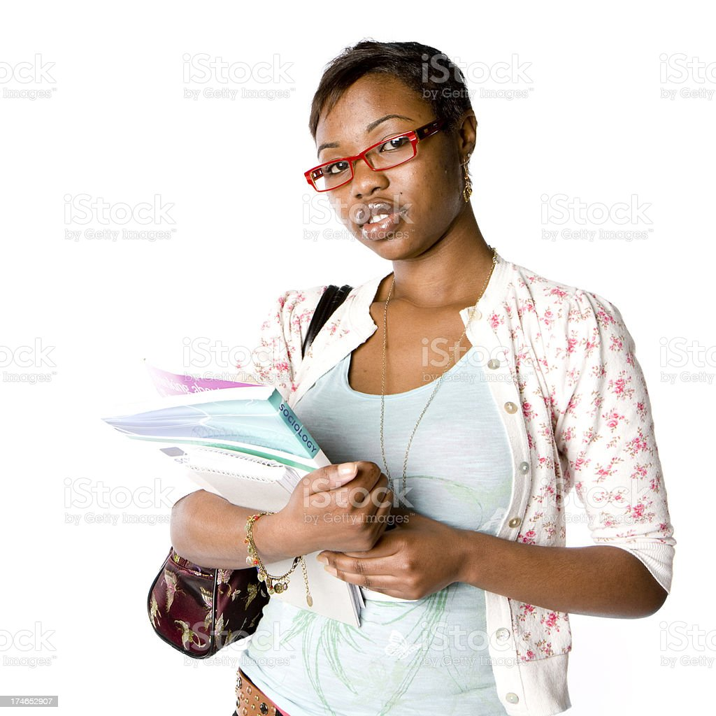 further education: student portrait royalty-free stock photo