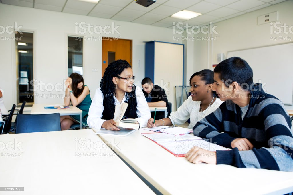 further education: study group royalty-free stock photo