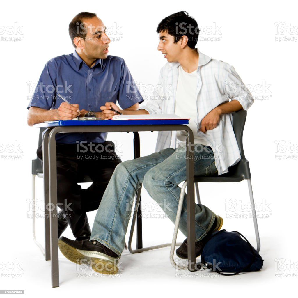 further education: tutorial with teacher royalty-free stock photo