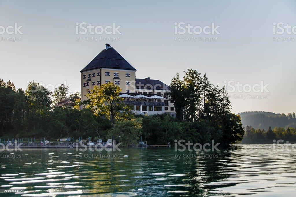 Fuschlsee in the Salzkammergut, Austria, 2015 stock photo