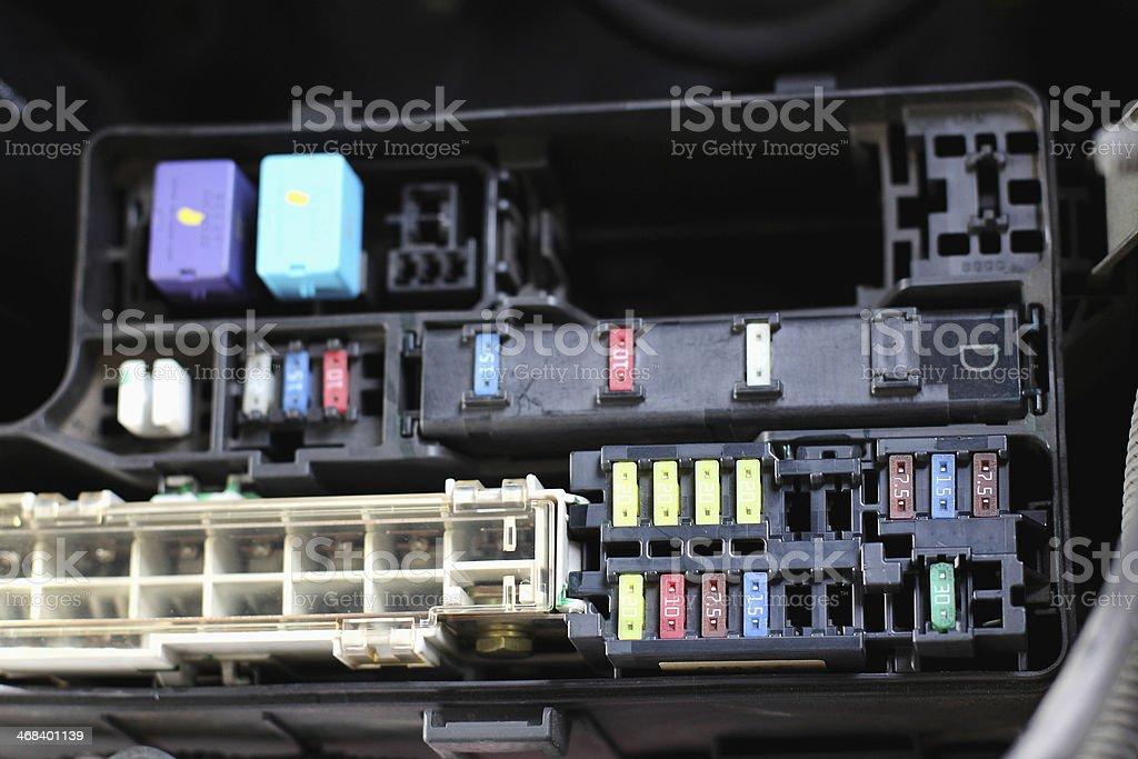 fuse box stock photo