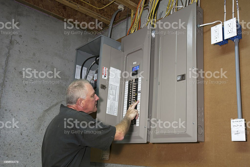Fuse Box stock photo