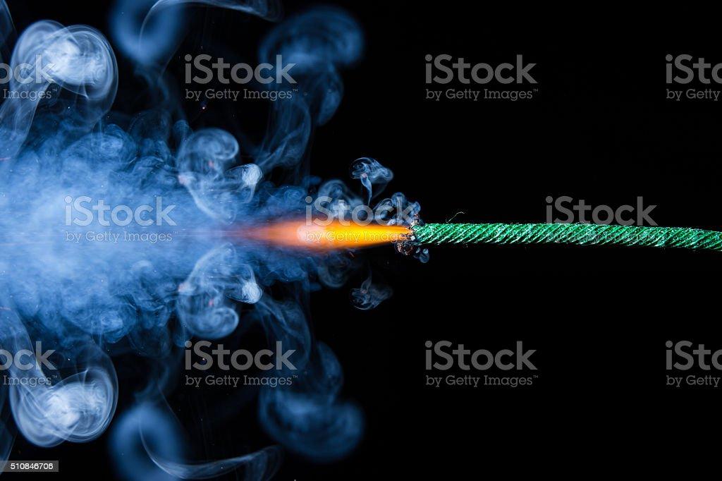 Fuse is burning stock photo