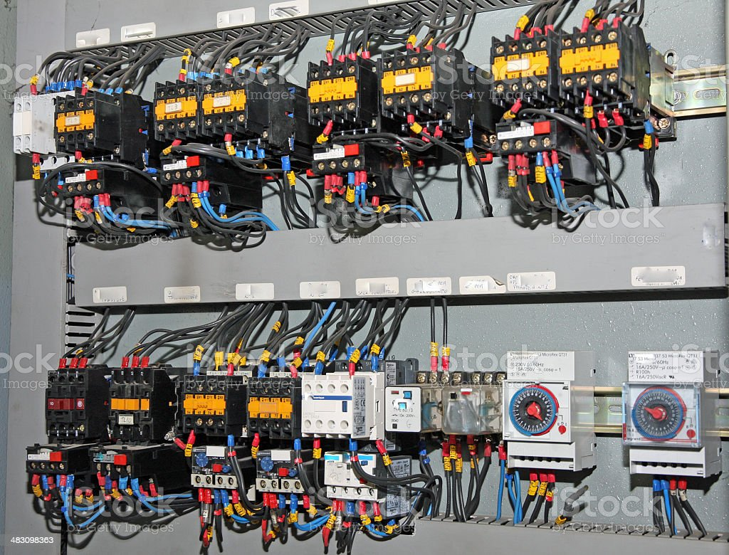 fuses and switches stock photo