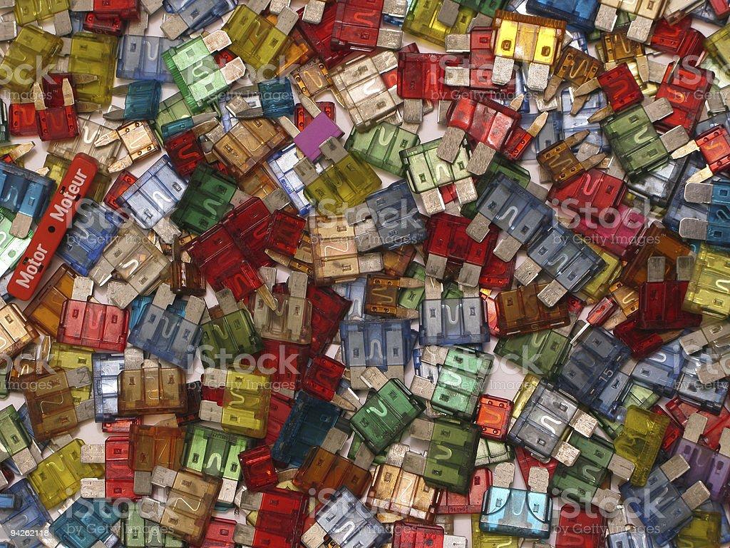 Fuses  background stock photo