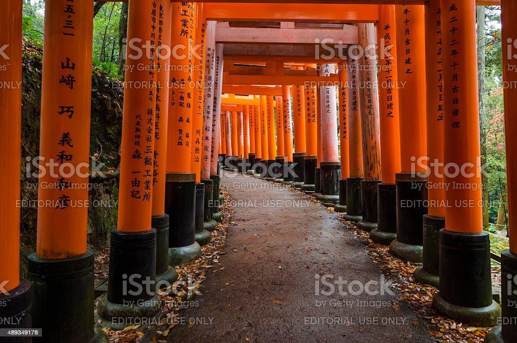 Fushimi Inari shrine in Kyoto, Japan stock photo