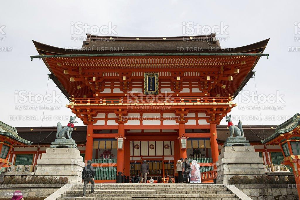 Fushimi Inari Taisha in Kyoto, Japan royalty-free stock photo
