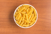 Fusilli Into a bowl.