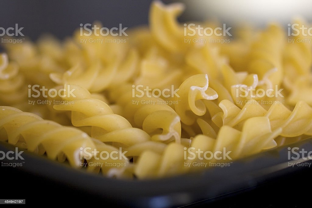 Fusilli, Italian pasta royalty-free stock photo