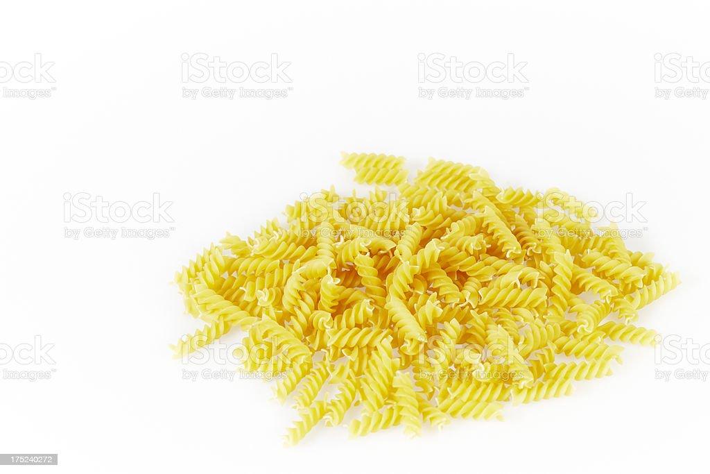 Fusilli pasta royalty-free stock photo