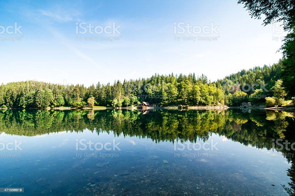 Fusine lake in Friuli Venezia Giulia stock photo