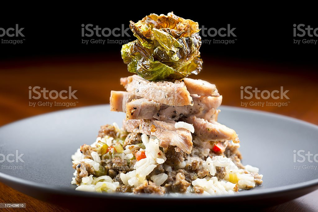Fusion Chicken royalty-free stock photo
