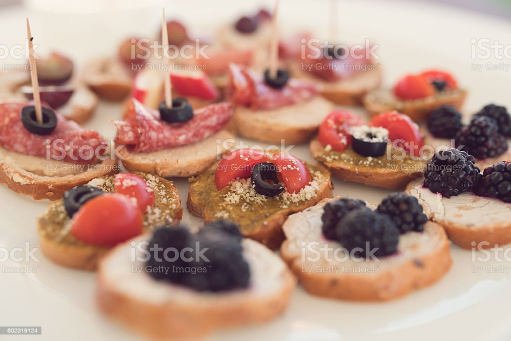 Fusion of flavors stock photo