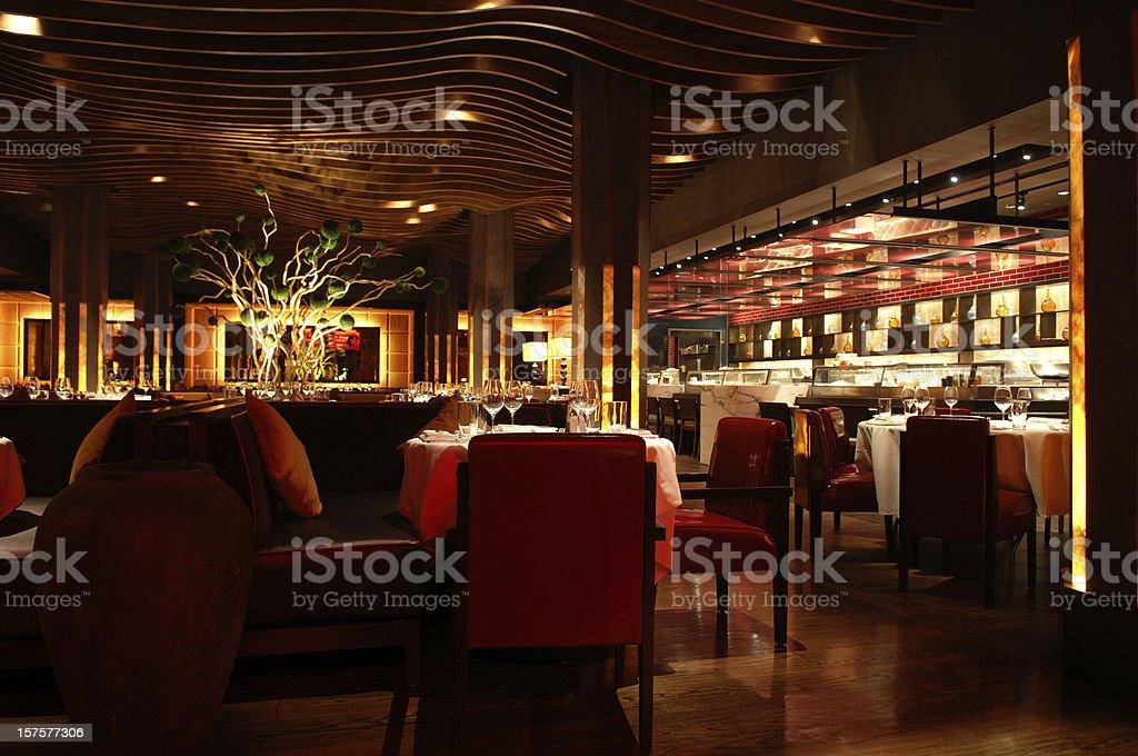 Fusion Sushi Restaurant Interior stock photo