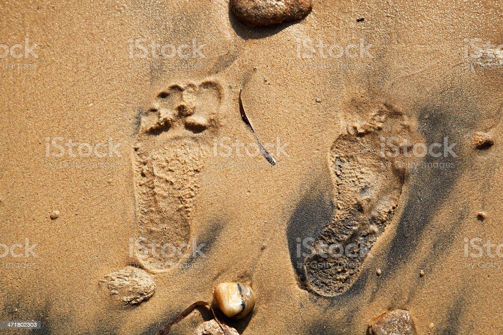 Fu?spuren im Sand royalty-free stock photo