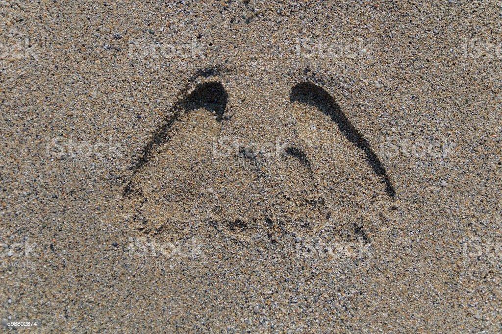 Fußspuren stock photo