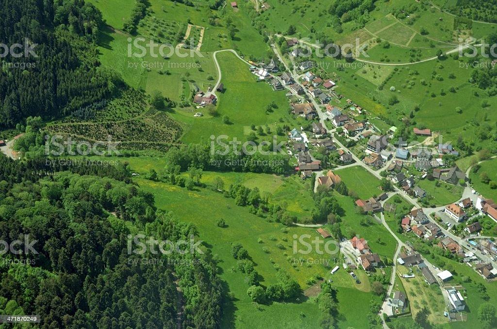 Fussbach aerial stock photo