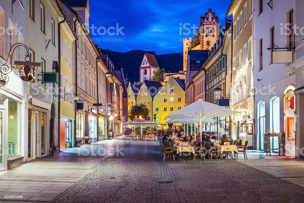 Fussen, Germany Old Townscape stock photo