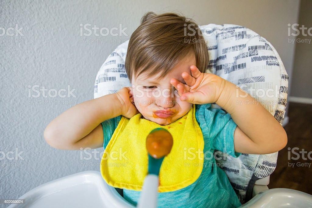 Fussy Picky Baby Eater stock photo