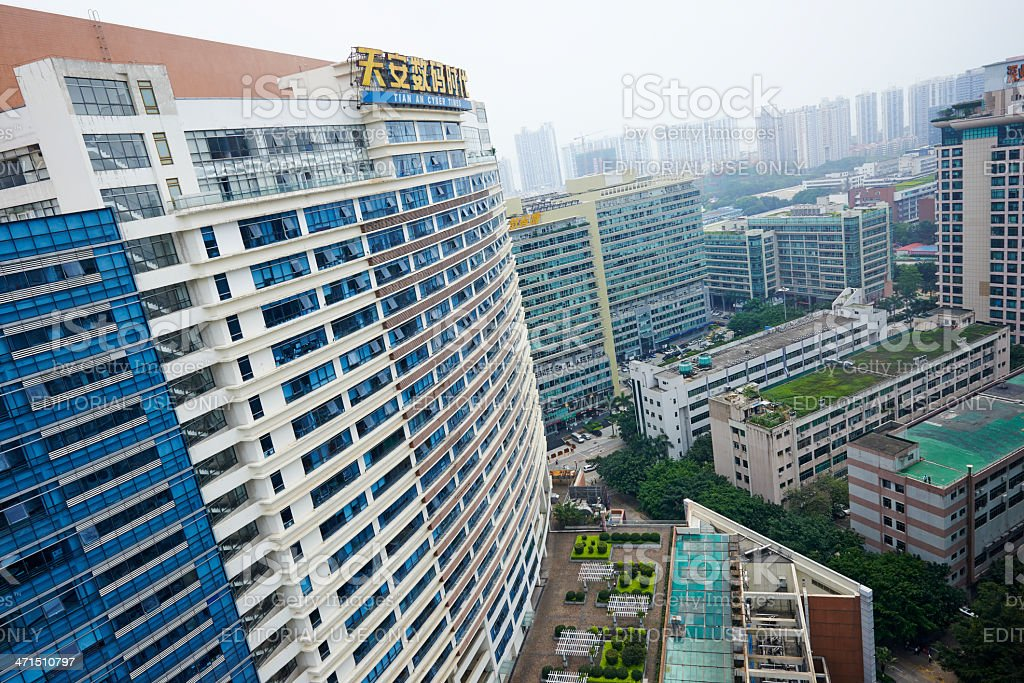 Futian District in Shenzhen royalty-free stock photo