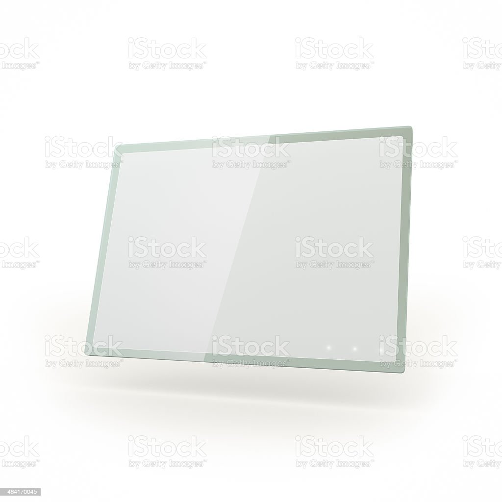 Futiristic touch screen glass tablet stock photo