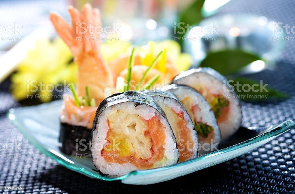Futomaki sushi royalty-free stock photo