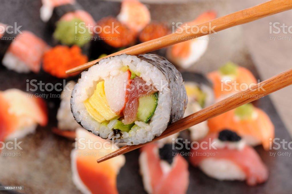 Futomaki sushi stock photo