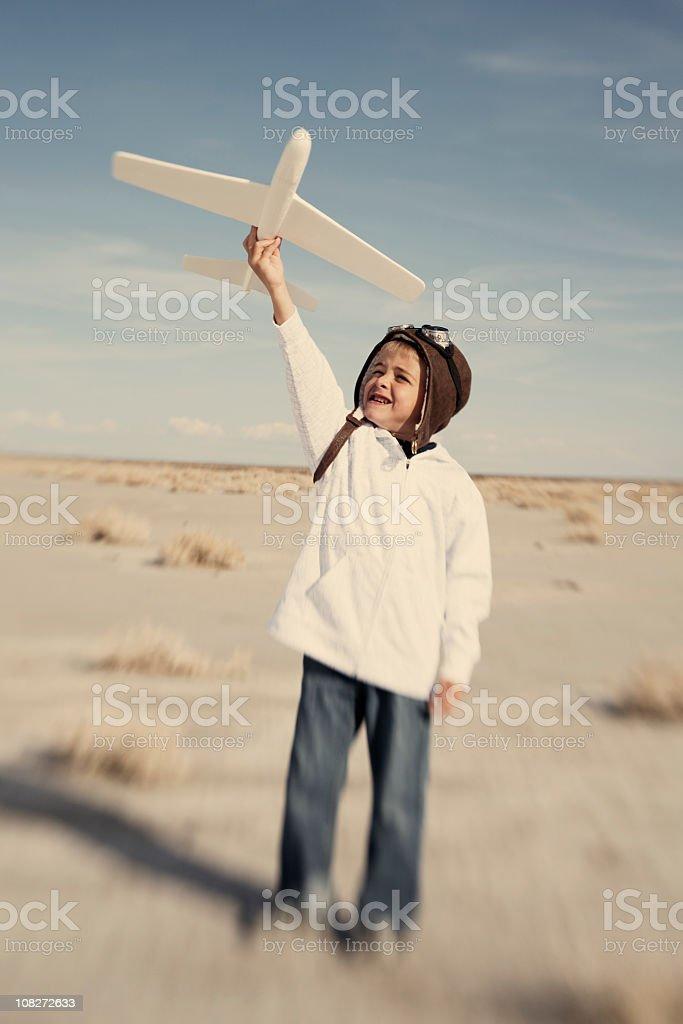 Future Aviator royalty-free stock photo