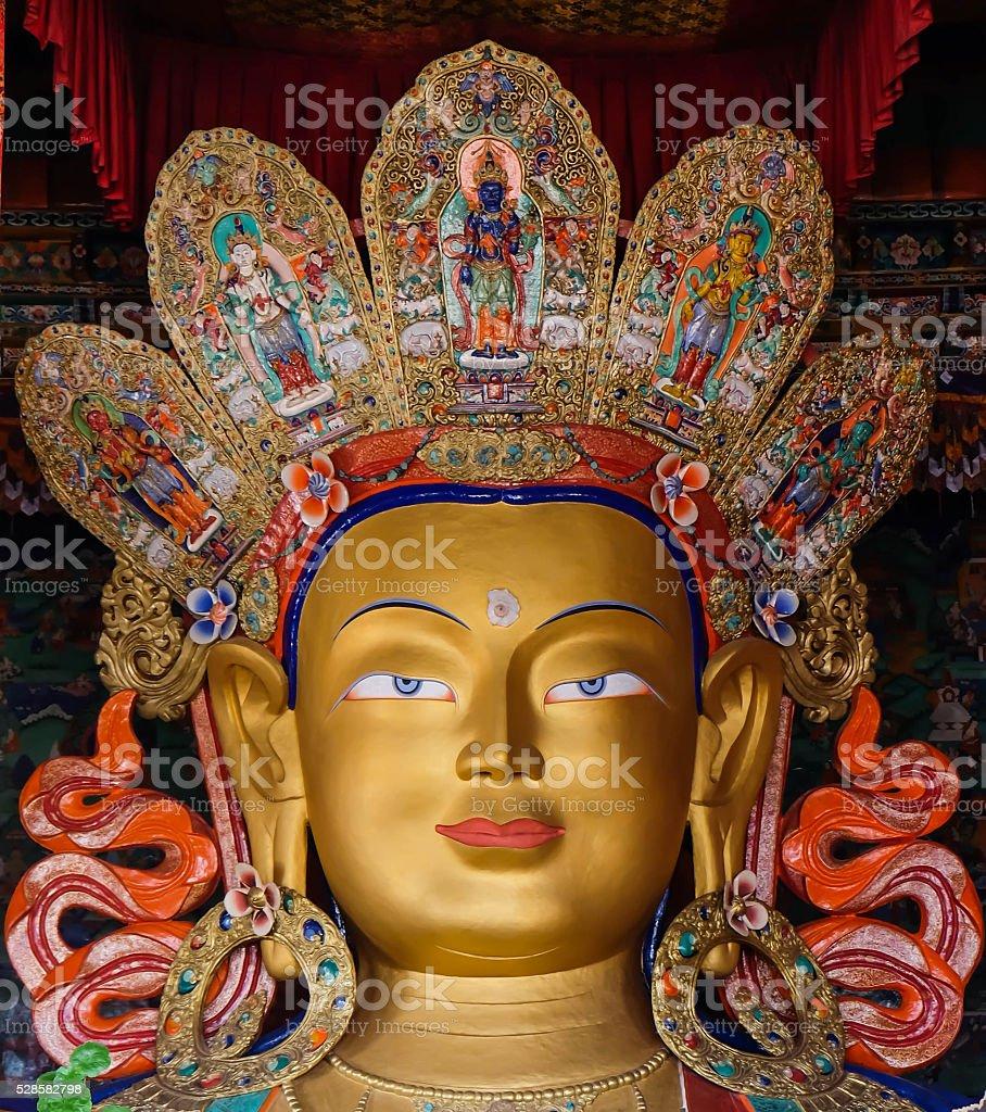 Future Buddha statue stock photo