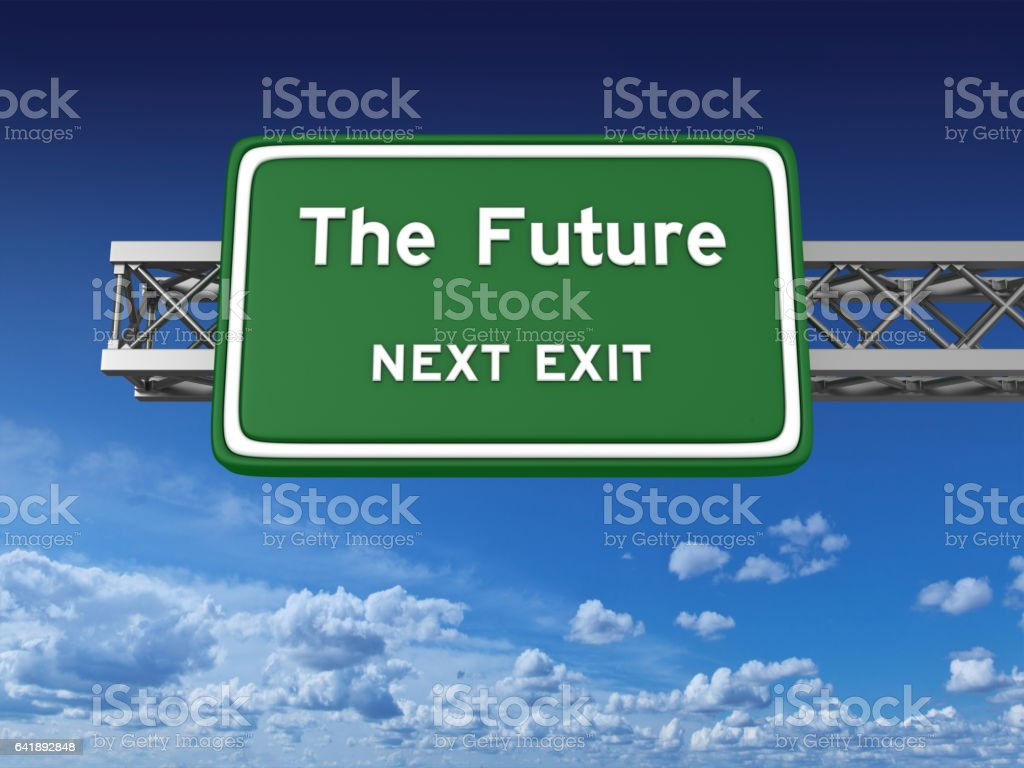 Future Concept Highway Sign stock photo