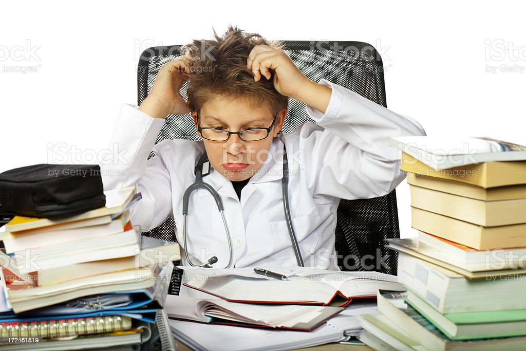 Future Crazy doctor royalty-free stock photo