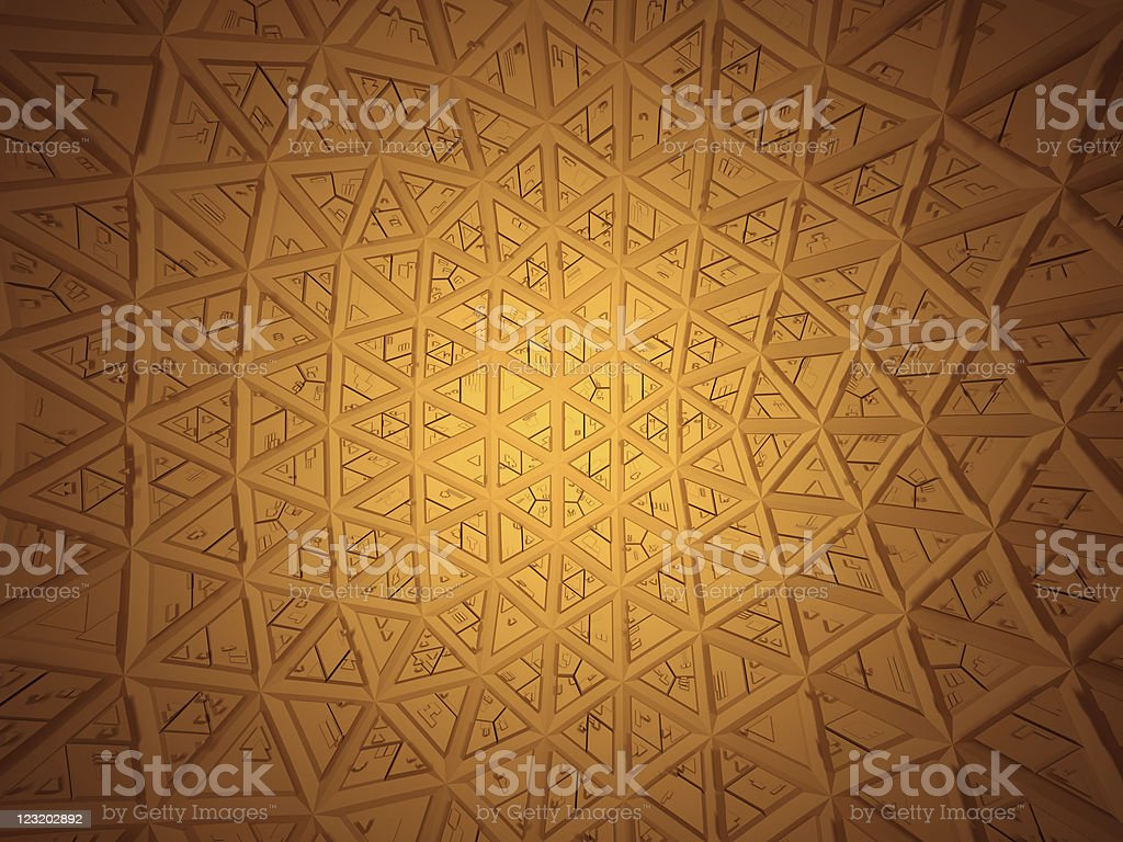 Future design technology - Technological Dome royalty-free stock photo