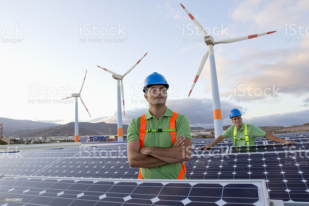 Future electrical production royalty-free stock photo