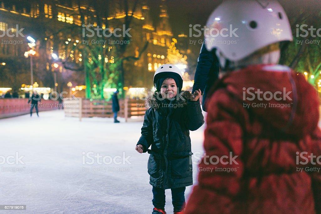 Future figure skaters stock photo