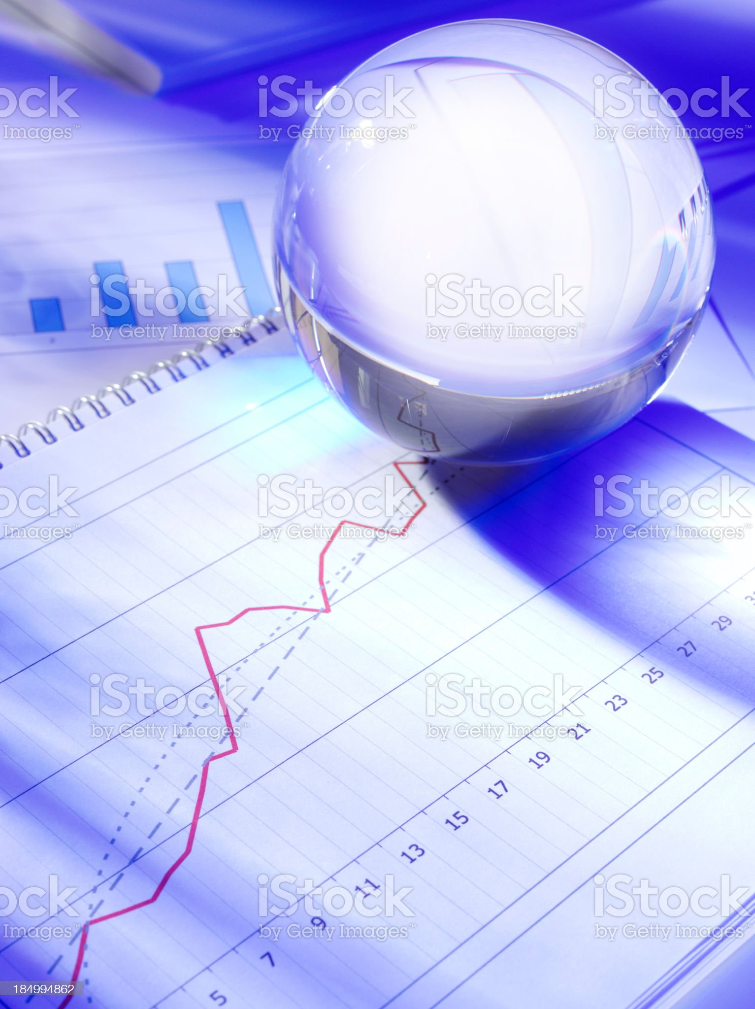 Future Growth in a Crystal Ball royalty-free stock photo