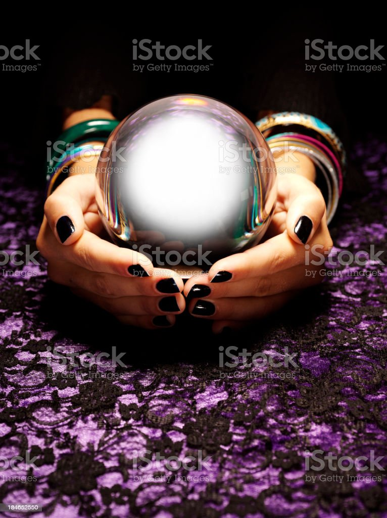 Future in a Crystal Ball royalty-free stock photo