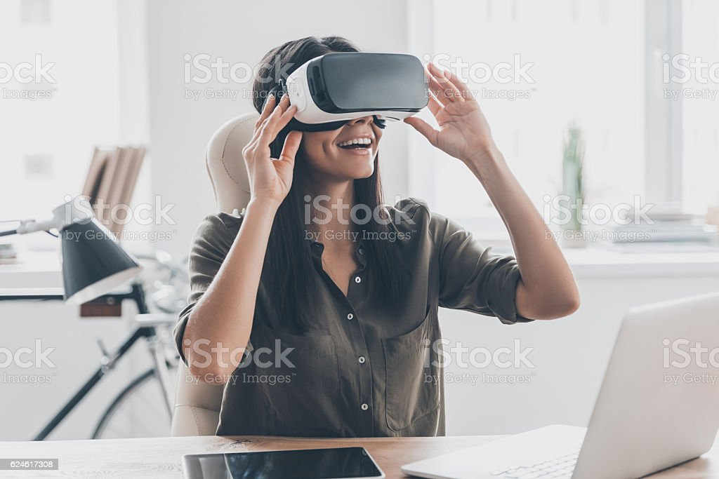 Future is right now. stock photo