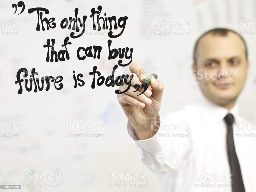 Future Is Today royalty-free stock photo