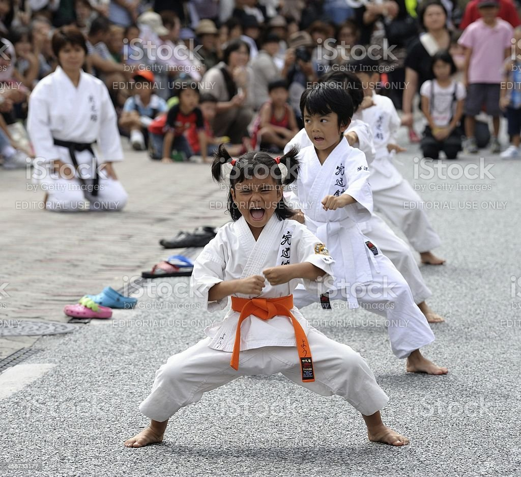 Future Karate Champion stock photo