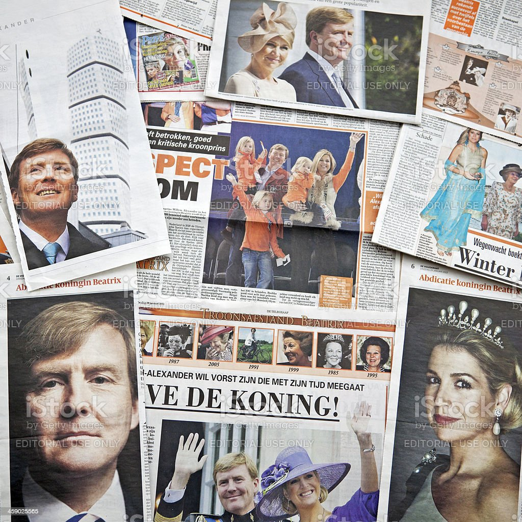 Future King and Queen of the Netherlands # 2 XL stock photo