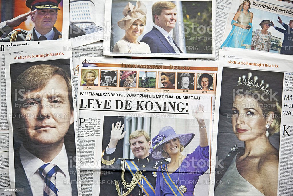 Future King and Queen of the Netherlands # 1 XXXL stock photo
