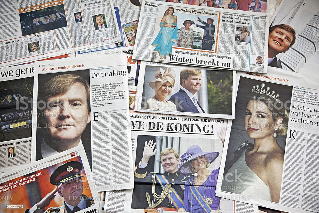 Future King and Queen of the Netherlands # 3 XXXL stock photo