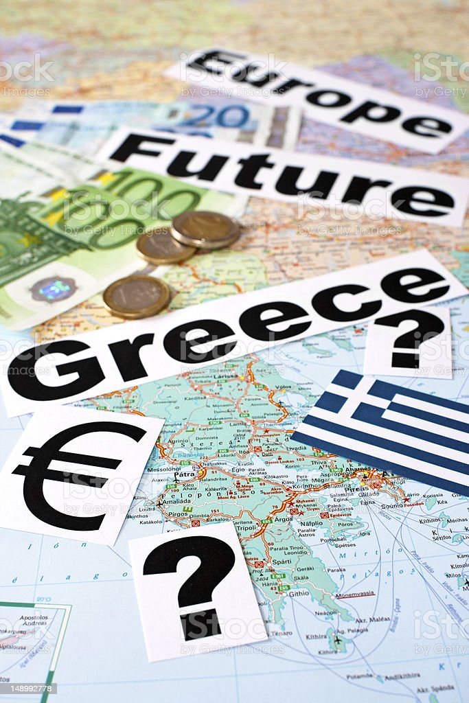 Future of Greece / Europe stock photo